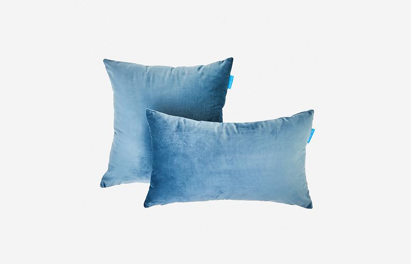 cojines don algodon azul