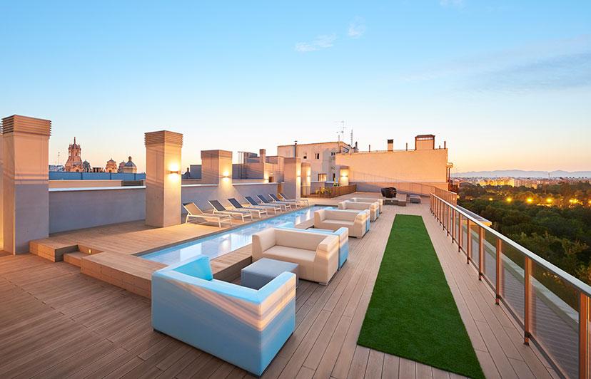 fotografía solárium residencial jardines de la ciudadela valencia