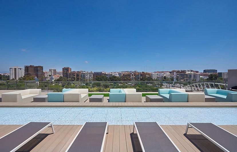 fotografía solárium residencial jardines de la ciudadela