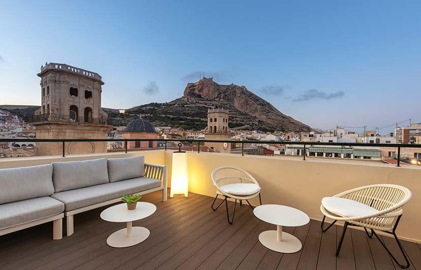 fotografía de terraza para hoteles Alicante