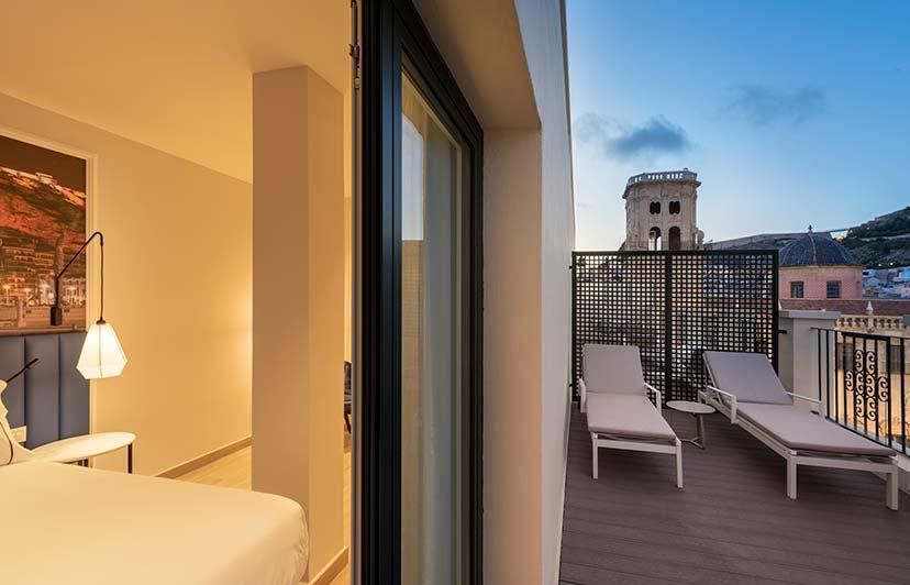 fotografía interior exterior de hoteles eurostars Alicante